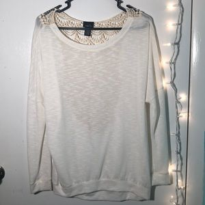 Rue21 lace back sweater